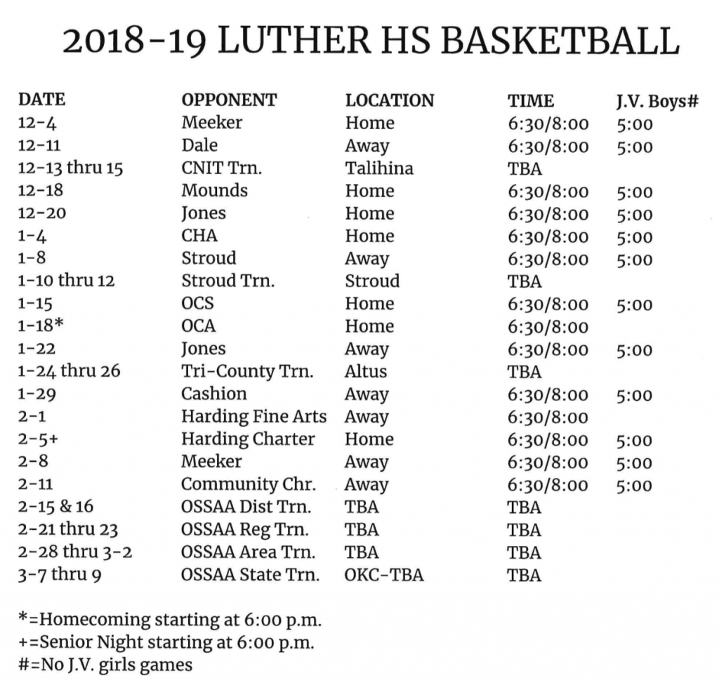Luther HS Basketball