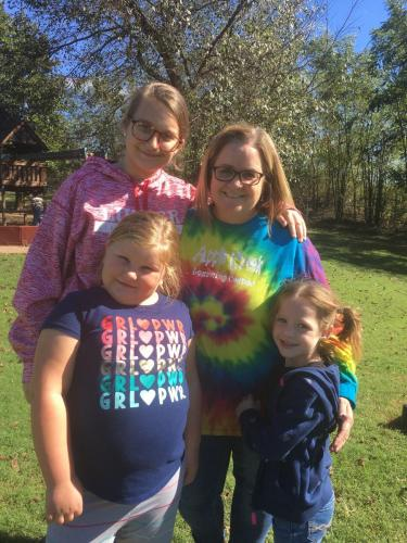 MIss Darci and three of her kids.