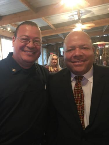 Luther Police Chief David Randall and Candidate Mike Shelton