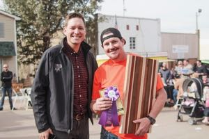 Lt Gov-Elect Matt Pinnell and Pete Newsom, Grand Champion