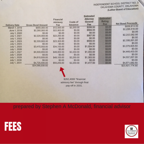 Stephen A McDonald is one of the only school bond advisors in the state.