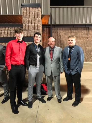 Supt Mr. Gunn and the Wilson boys